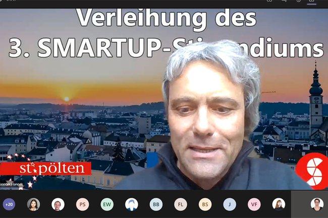 Begrüßung von Raffaseder Hannes, die Stadt St.Pölten, SMARTUP, Teilnehmer