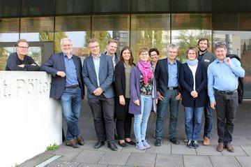 Johannes Pflegerl und die TeilnemerInnen der Delegation aus Brandenburg