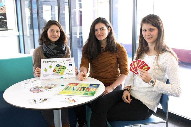 Die Spiele und Studentinnen des Studiengangs Diätologie