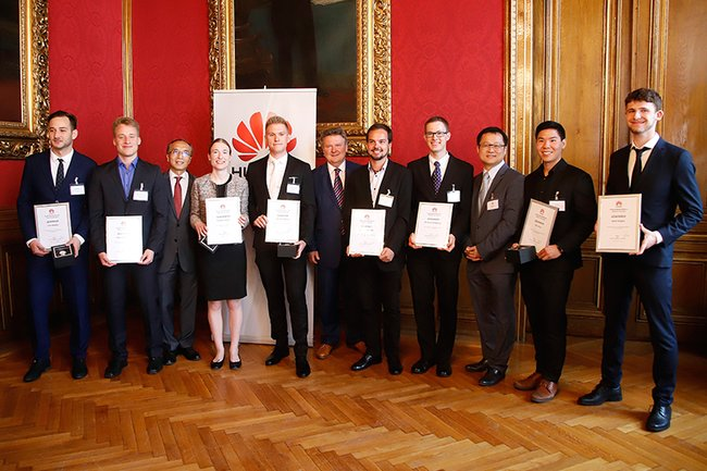 Siegerehrung Huawei-Studierendenwettbewerb