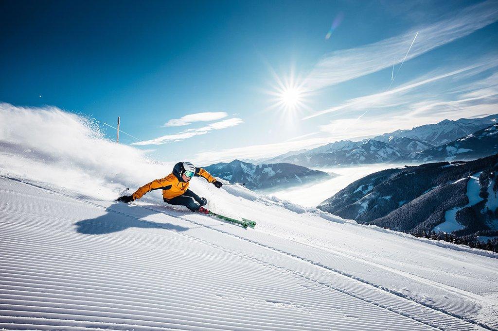 Skifahren im Winterurlaub auf der Schmittenhohe