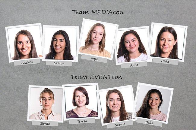 Die Teams der EVENTcon und MEDIAcon 2021 an der FH St. Pölten