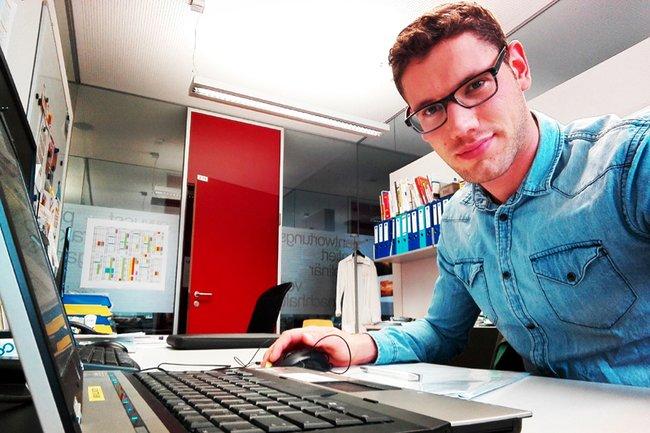 Benjamin Kolb, Student der Berner Fachhochschule