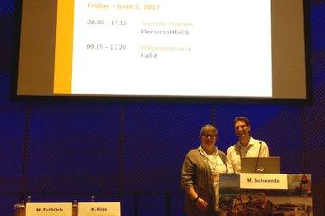 Karin Klas und Manuel Schwanda beim Symposium