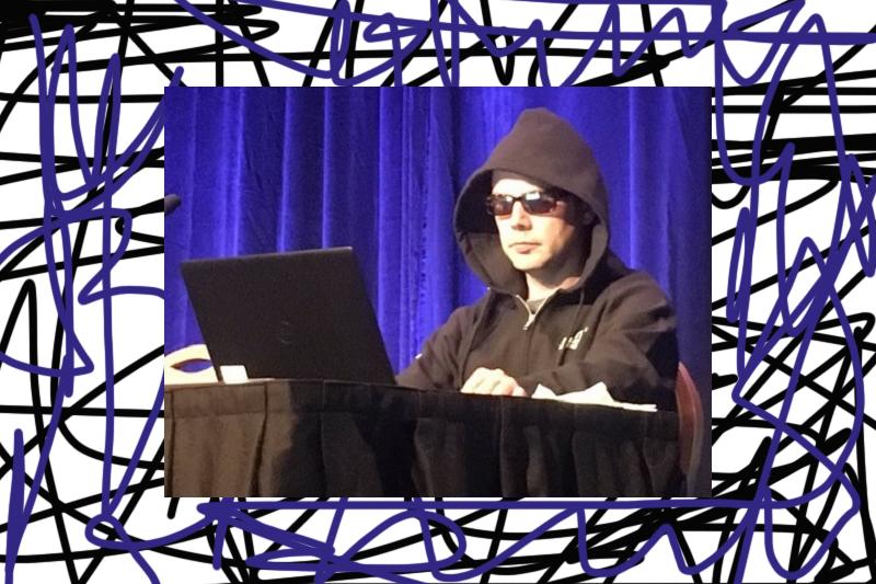 Thomas Brandstetter bei der Black Hat Konferenz