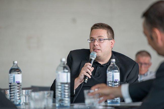 Thomas Moser zu Gast im Lentos in Linz, diskutiert wurde die Zukunft der Arbeit