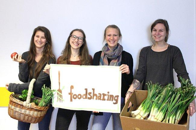 Projektteam Foodsharing (v.l.n.r.): Julia Kram, Melanie Steindl, Christine Dockner, Kathrin Leitner