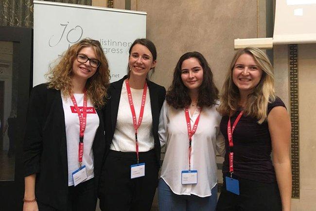 Die FH St. Pölten hatte mit den YoungStars Verena Sebestik, Theresa Bittermann, Anna Putz und Sofie Hörtler eine eigene Delegation am 20. Journalistinnenkongress.