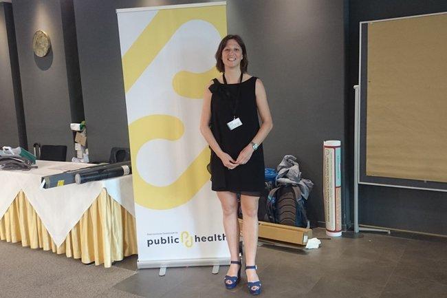 Elisabeth Höld bei der Tagung