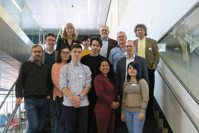 Die Gäste der International Week zusammen mit DozentInnen der FH St. Pölten.