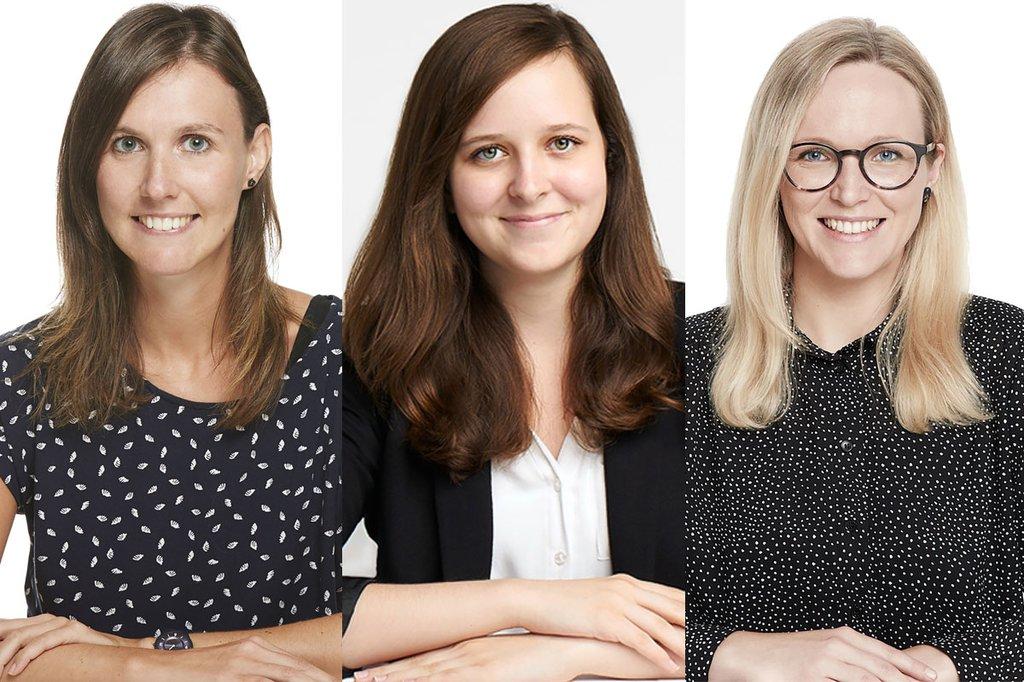 Die Absolventinnen Manuela Brugger, Sarah Nemec und Tanja Pöltl unterrichten gemeinsam eine Lehrveranstaltung im Master Studiengang Digital Marketing und Kommunikation.