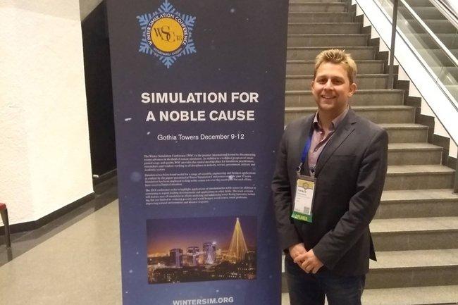 Thomas Felberbauer bei der Winter Simulation Conference 2018