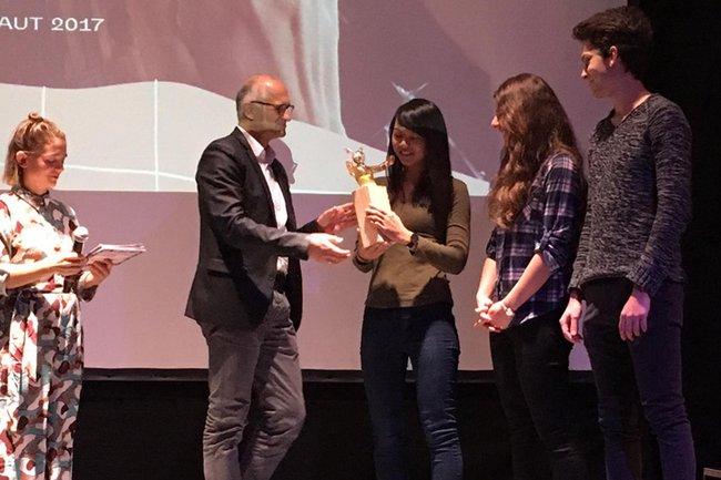 Alois Frotschnig bei der Übergabe des Local Awards beim YOUKI Festival