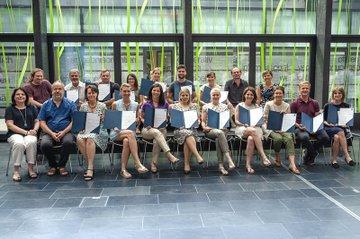 TeilnehmerInnen am Lehrgang mit Lehrgangsleitung