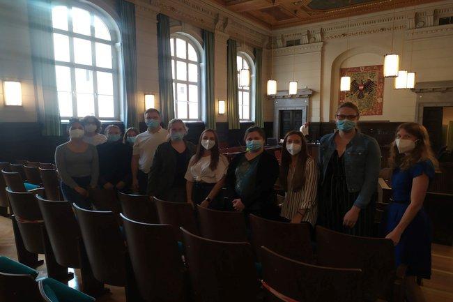 Students at the Regional Court St. Pölten
