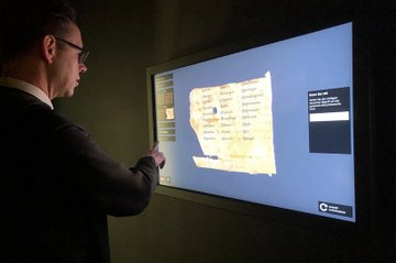 Touchscreen in the exhibition
