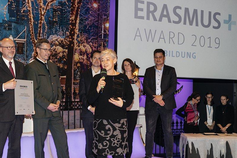 Daniela Wewerka-Kreimel at the award ceremony