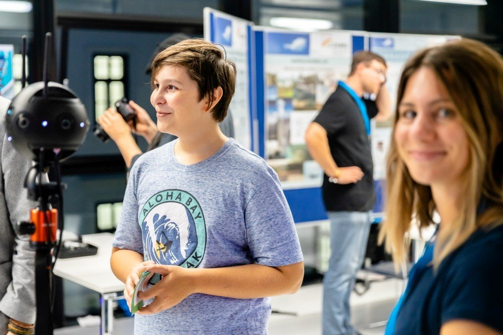 Omnidirectional camera at the European Researchers' Night 2019