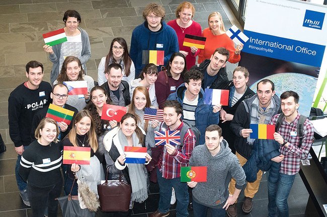 The new guest students were warmly welcomed at  St. Pölten UAS.