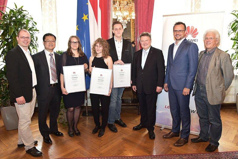 Award ceremony in Vienna City Hall