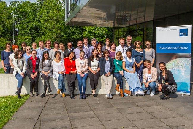 International Week for university staff at the St. Pölten UAS