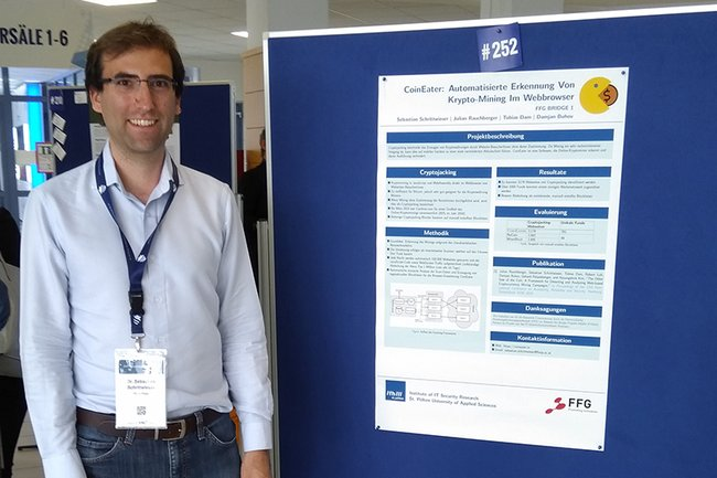Sebastian Schrittwieser at the Universities of Applied Sciences Research Forum 2019