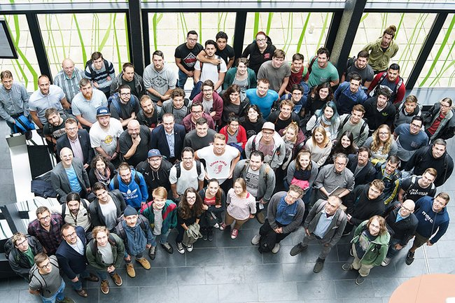 Group picture of the participants of the Creative Media Summer School at St. Pölten UAS